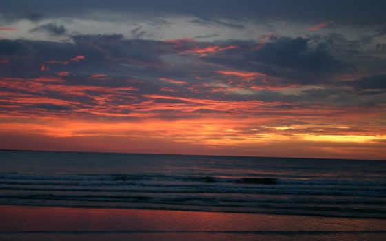 небо, закат, оранжевый, природа, blue, sun, clouds, тона, восход,