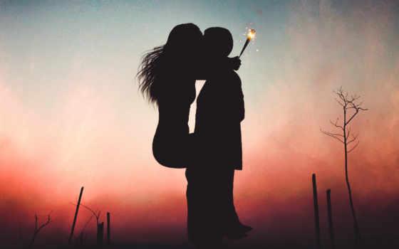 love, пара, поцелуй, lovers, pair, закат, you, страница,