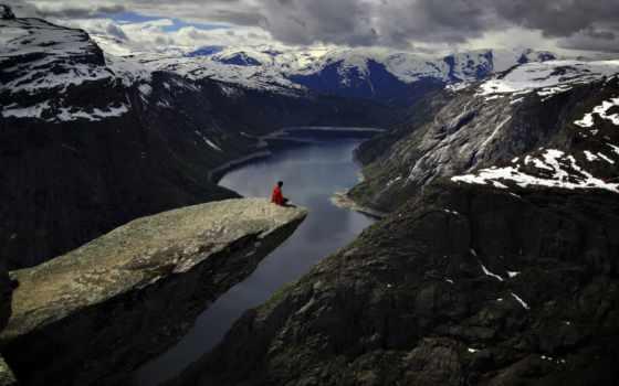 природа, гора, красивый
