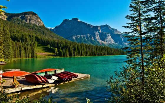 канада, fond, park, природа, озеро, emerald, sur, гора, gratuit