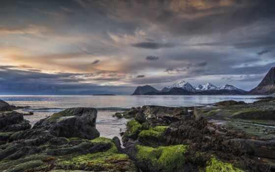 lofoten, море, норвегия, nordland, flakstad, stormy, взгляд, scenic