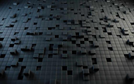 кубы, абстракция, cubes, стиль, головоломка, картинка,