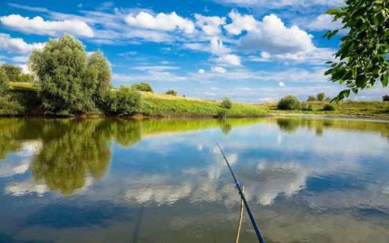 рыбалка, озере, рыбалке, отдых, озеро,