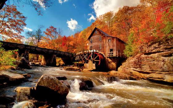осень, italian, италии, осенью, италию, погода, oboi, mill, река, природа, водяная,