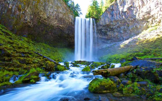 капюшон, река, oregon, you, hiking, waterfalls, водопад, water, summer,