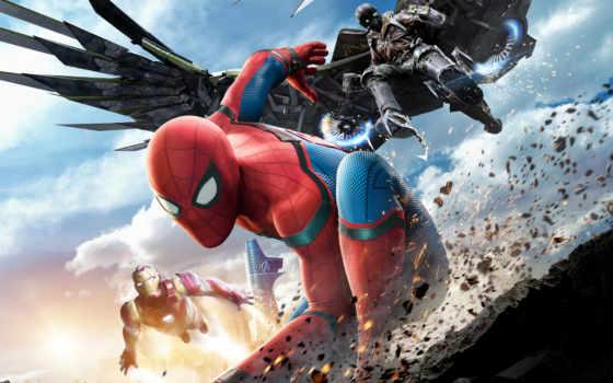 домой, мужчина, паук, return, сниматься, возвращается, кинотеатр, peter, после, parker,