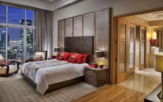 кровать, постель, interer