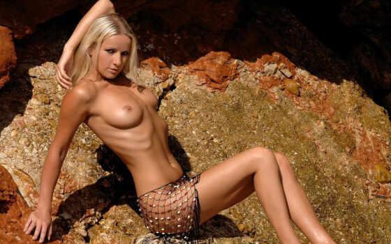 эротика, топлесс, голая, скалы
