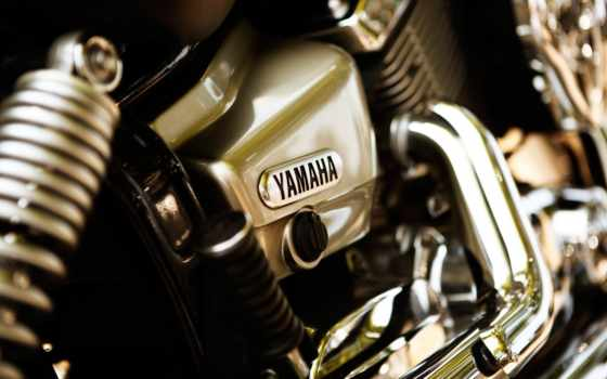 yamaha, мотоцикл, хром