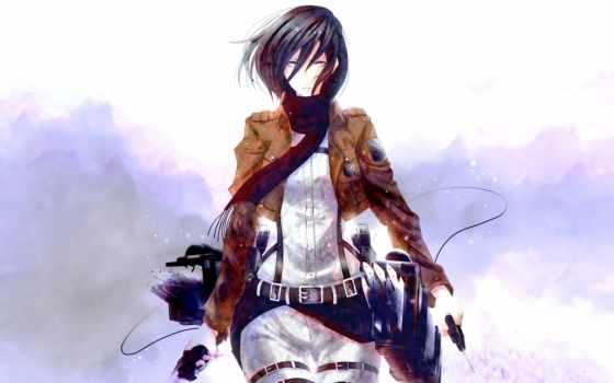anime, mikasa, девушка