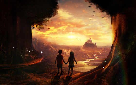 fantasy, desktop, world