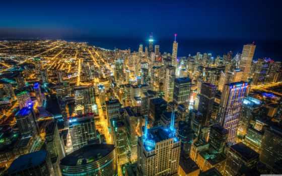 chicago, высокого, michigan, иллинойс, озеро, skyscrapers, город, разрешения, пейзажи -,