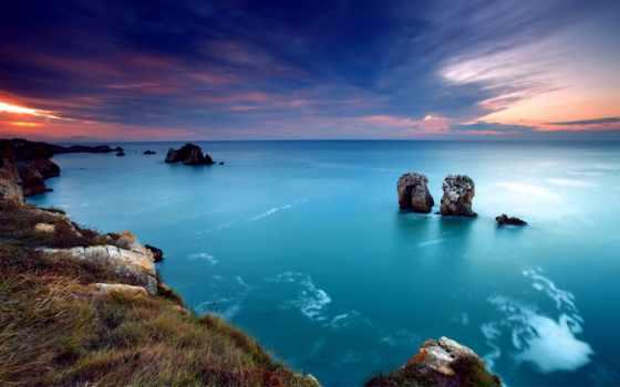 природа, looking, скалы, небо,