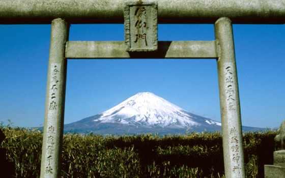 гора, фудзи, япония, священная,