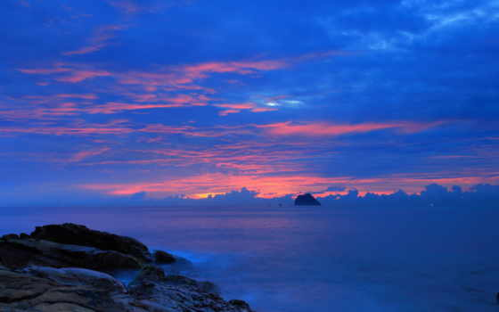 ночь, небо, landscape