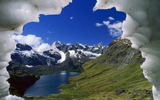 national, park, fiordland, new, zealand, darran, озеро, умывальник, adelaide, mountains,