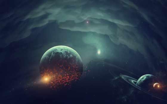 cosmos, planet, art, фантастика, уничтожение, desktop, космос,