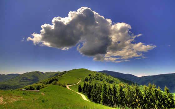 природа, landscape, холмы, широкоформатные, summer, разнообразные, пикселей, хостинг, oblaka, дорога,
