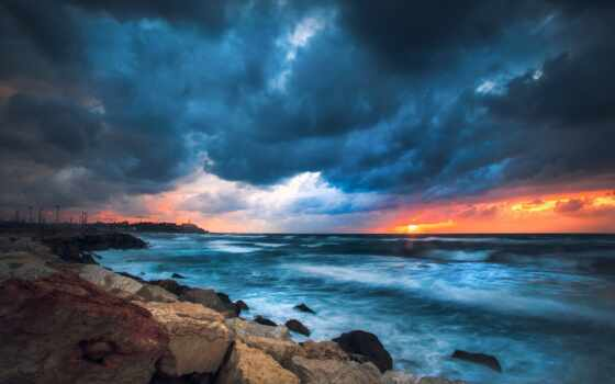 landscape, natural, ocean, море, закат, побережье, небо, эти, yingakirah, горизонт, природа