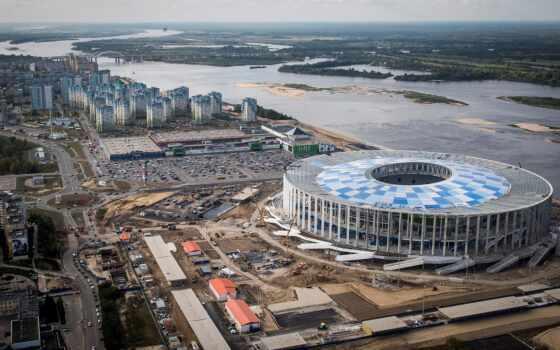 стадион, нижнем, новгород, lower, россия, shooter