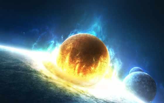 flames, gone, планеты, армагеддон, космос, планета, астероид, катастрофа, крушение, resolution,