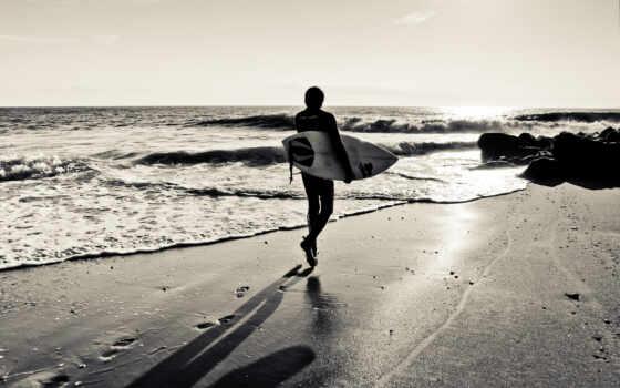 сёрфинг, доска, взгляд