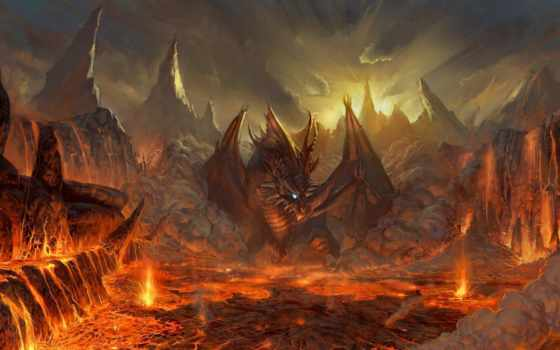 дракон, драконы, red