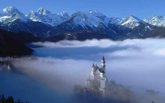 баварии, castle, замки, нойшванштайн, баварского, короля, людвига,