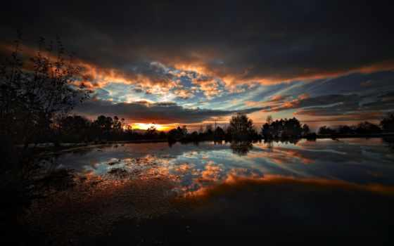 природа, путь, млечный, небо, ночь, water, камни, озеро,