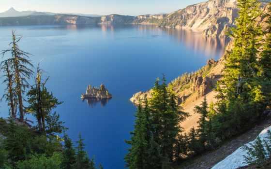 озеро, crater, самые, чистые, сша, водоемы, oregon, планеты, озера,