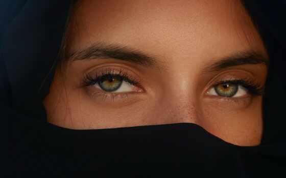 хиджаб, black, mobile, лицо, телефон, женщина
