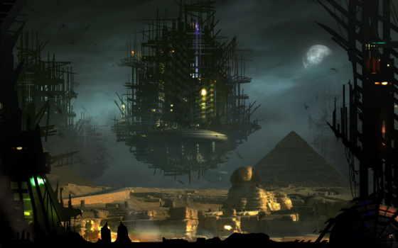 сфинкс, пирамида, sci