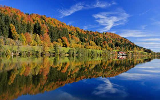 природа, осень, заставки, озеро, осенние, природы, landscape, лес, отражение,