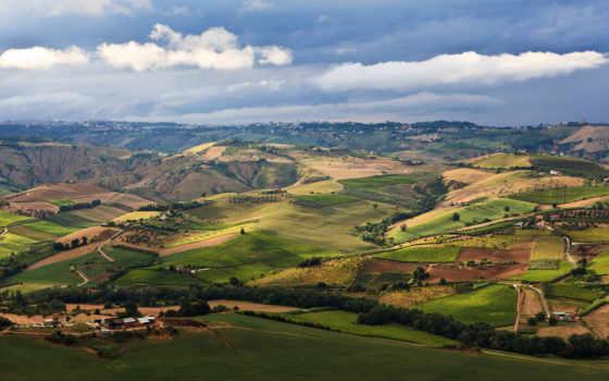 krajobrazy, krajobraz, polski, pola, montefino, widok, agriturismo, nibbio,