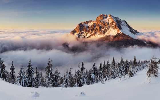 rozsutec, alcatel, fatra, slovakia, veľký, winter, еда, panoráma, zo, туман, от,