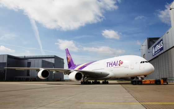 thai, airways, airbus, впервые, airline,