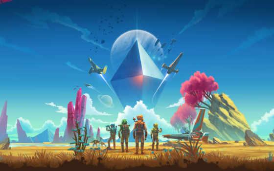 небо, мужчина, next, обновления, trailer, игры, hello, games,