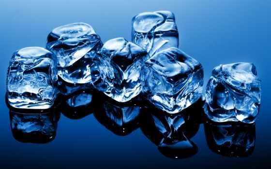 water, лед, льда, кубик