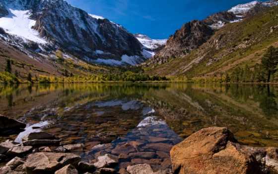 гора, озеро, sierra, nevada, mountains, отражение, montaña, berg, reflexión,