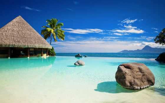 голубая, lagoon, фрески, отдых, бунгало, море, орто,