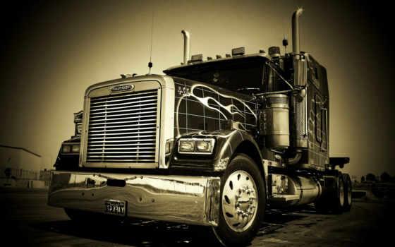 freightliner, trucks, gruzoviki, автомобили, фредлайнер, картинка, truck,