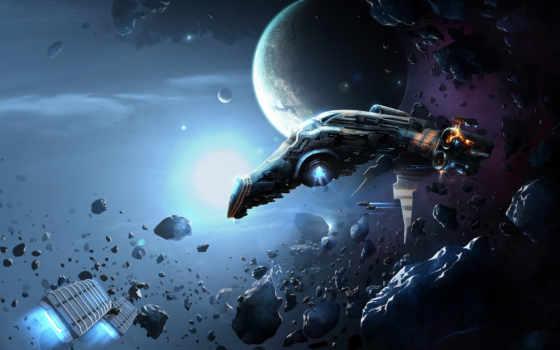 cosmic, корабль, cosmos, звезды, космос, планеты,