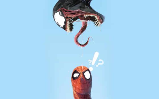 мужчина, паук, marvel, venom, universe, яд, сквозь, супергерой,