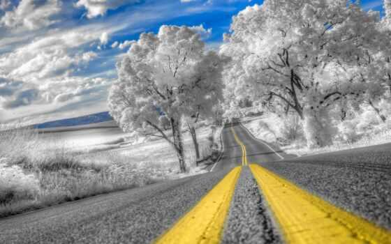 dorogoi, зимний, красивый, дерево, среди, schavel, покрыт, иней, дорога