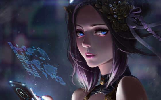 девушка, foong, марс, cyberpunk, technology, art, фантастика, fantastic, смотреть