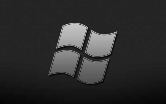 windows, logo, grey