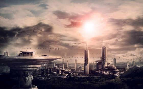 planet, инопланетян, art, планеты,