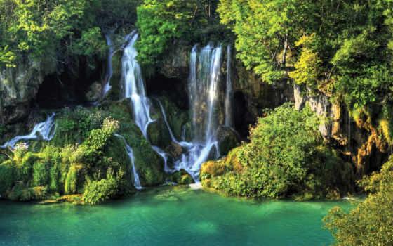 плитвицкие, озера, хорватии, park, хорватия, national, озер,