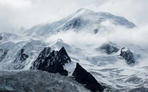 top, горы, небо, oblaka, снег, гора, скалы, кчр, девушка,