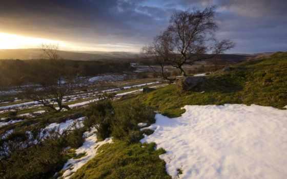 природа, mixáj, deskwalls, поле, landscape, закат, маленькая,